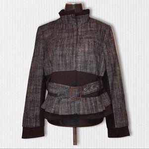 Dalia Collection Jacket Blazer Size 10 Belted